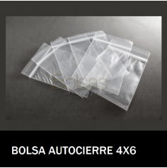 BOLSAS TRANSPARENTES CON CIERRE 4X6