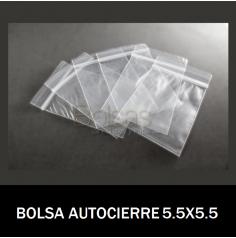 BOLSAS TRANSPARENTES CON CIERRE 5,5X5,5