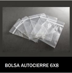 BOLSAS TRANSPARENTES CON CIERRE 6X8