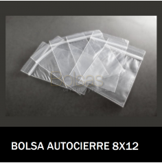 BOLSAS TRANSPARENTES CON CIERRE 8X12