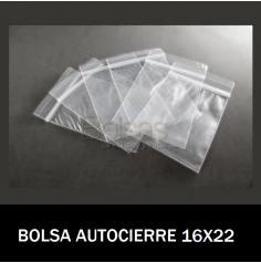 BOLSAS TRANSPARENTES CON CIERRE 16X22