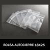 BOLSAS TRANSPARENTES CON CIERRE 18X25