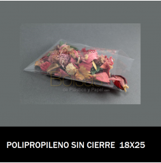 BOLSA CELOFAN 18X25