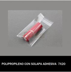 BOLSA POLIPROPILENO CON SOLAPA ADHESIVA 7X20