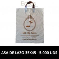 BOLSAS DE PLASTICO PERSONALIZADAS LAZO 35X45