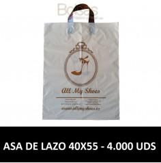 BOLSAS DE PLASTICO PERSONALIZADAS LAZO 40X55