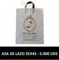 BOLSAS DE PLASTICO PERSONALIZADAS LAZO 35X42