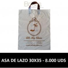 BOLSAS DE PLASTICO PERSONALIZADAS LAZO 30X35