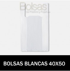BOLSAS RECICLADAS BLANCAS 40x50