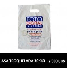 BOLSAS DE PLASTICO PERSONALIZADAS TROQUELADA 30X40