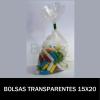 BOLSAS TRANSPARENTES 15X20