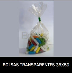BOLSAS TRANSPARENTES 35X50