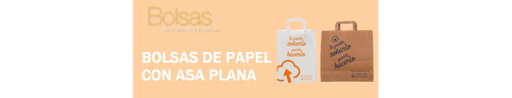 BOLSAS DE PAPEL PERSONALIZADAS ASA PLANA